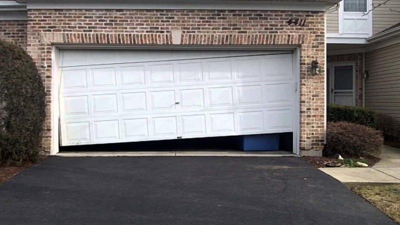 Garage Door Hanging Off Track